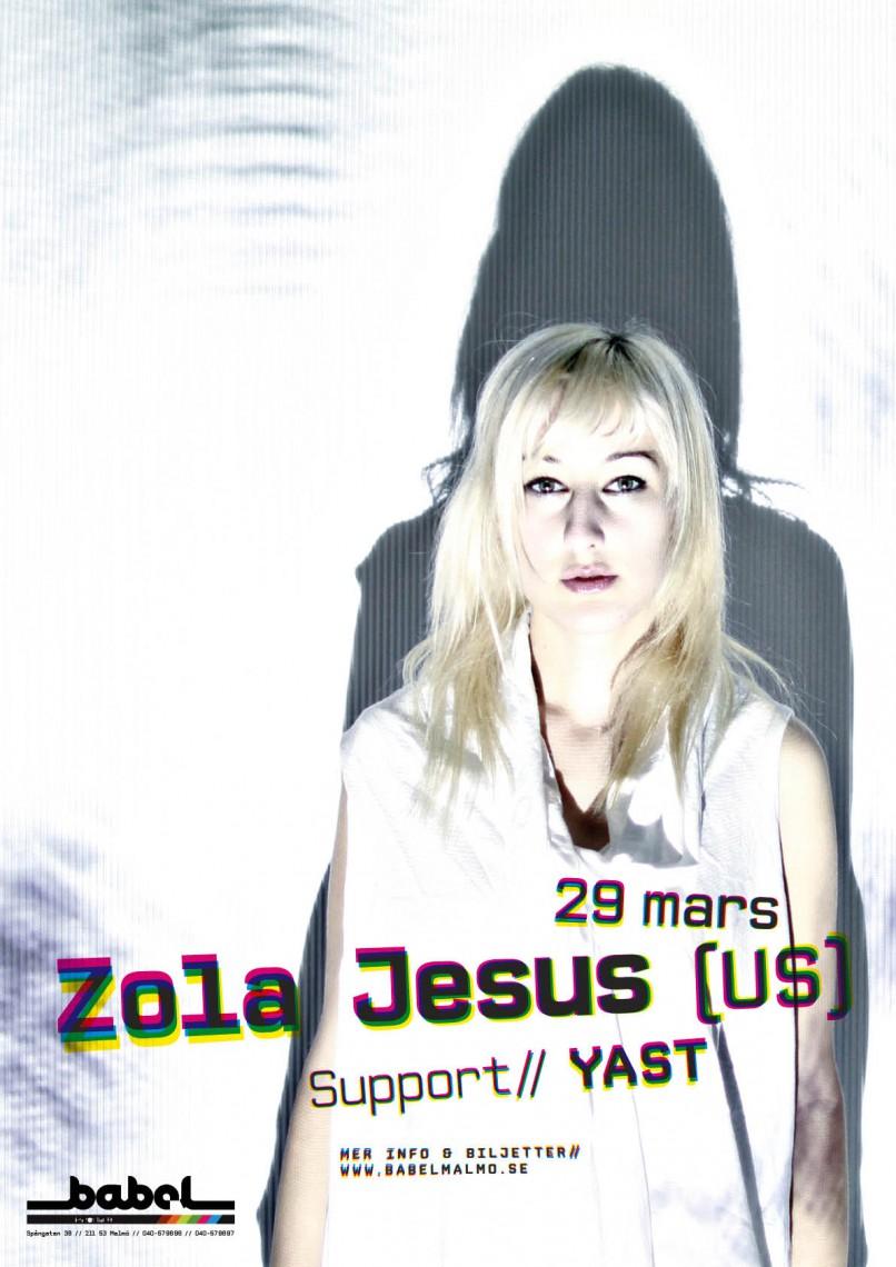 Zola Jesus konsertaffisch Babel