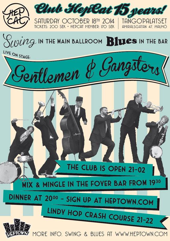 Club HepCat Gentlemen & Gangsters affisch