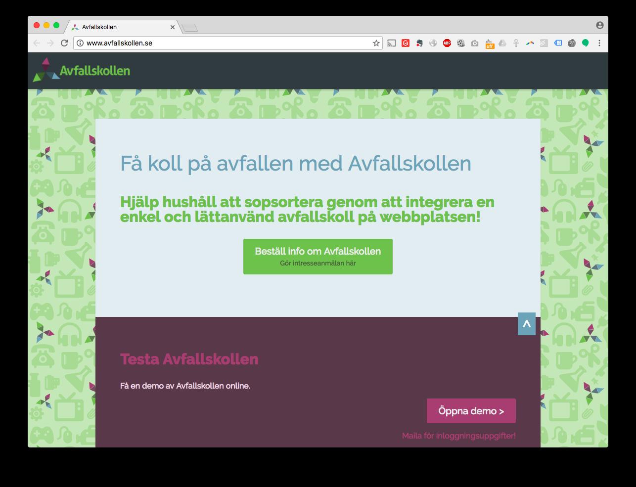 Webbdesign avfallskollen.se
