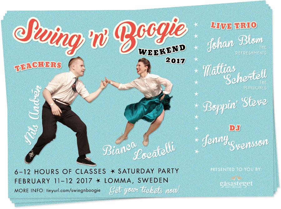 Swing 'n' Boogie Weekend flyer