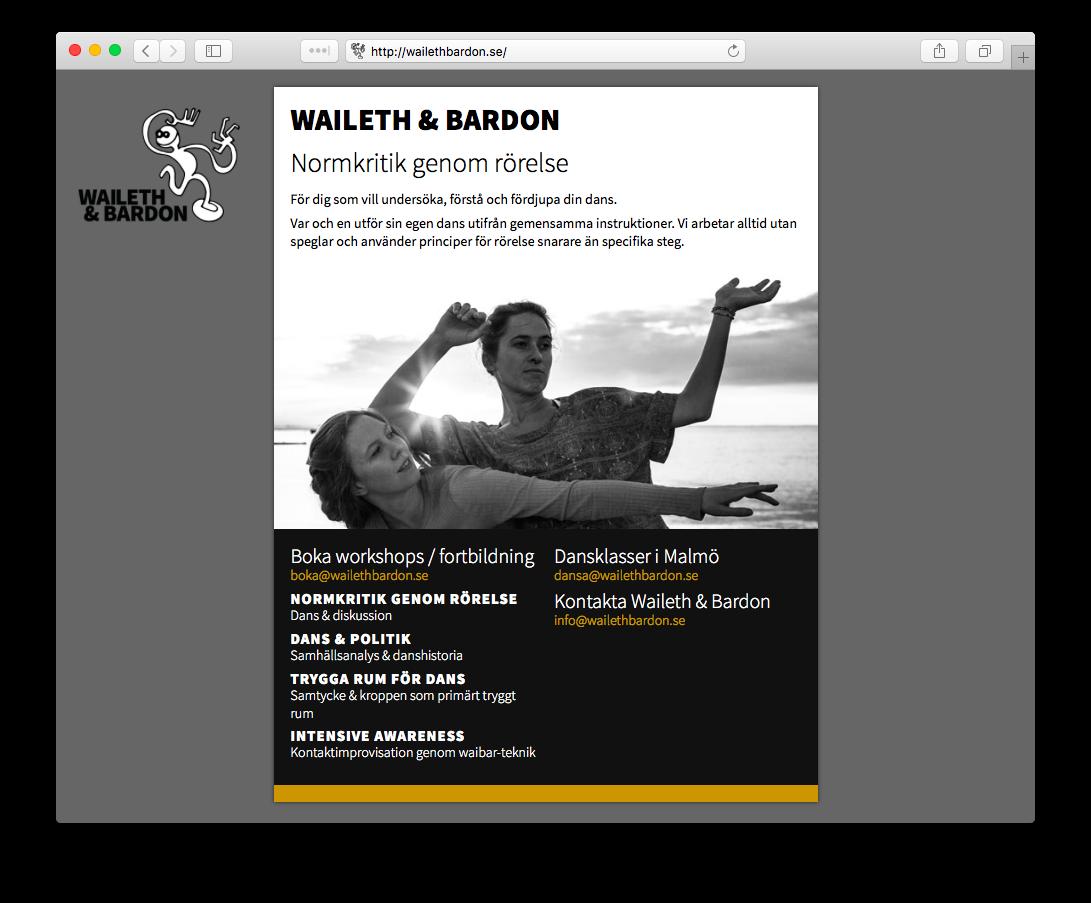 Waileth & Bardon tillfällig webbplats
