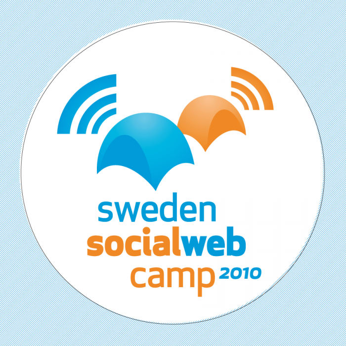 Sweden social webcamp logotyp rund/sticker 2010